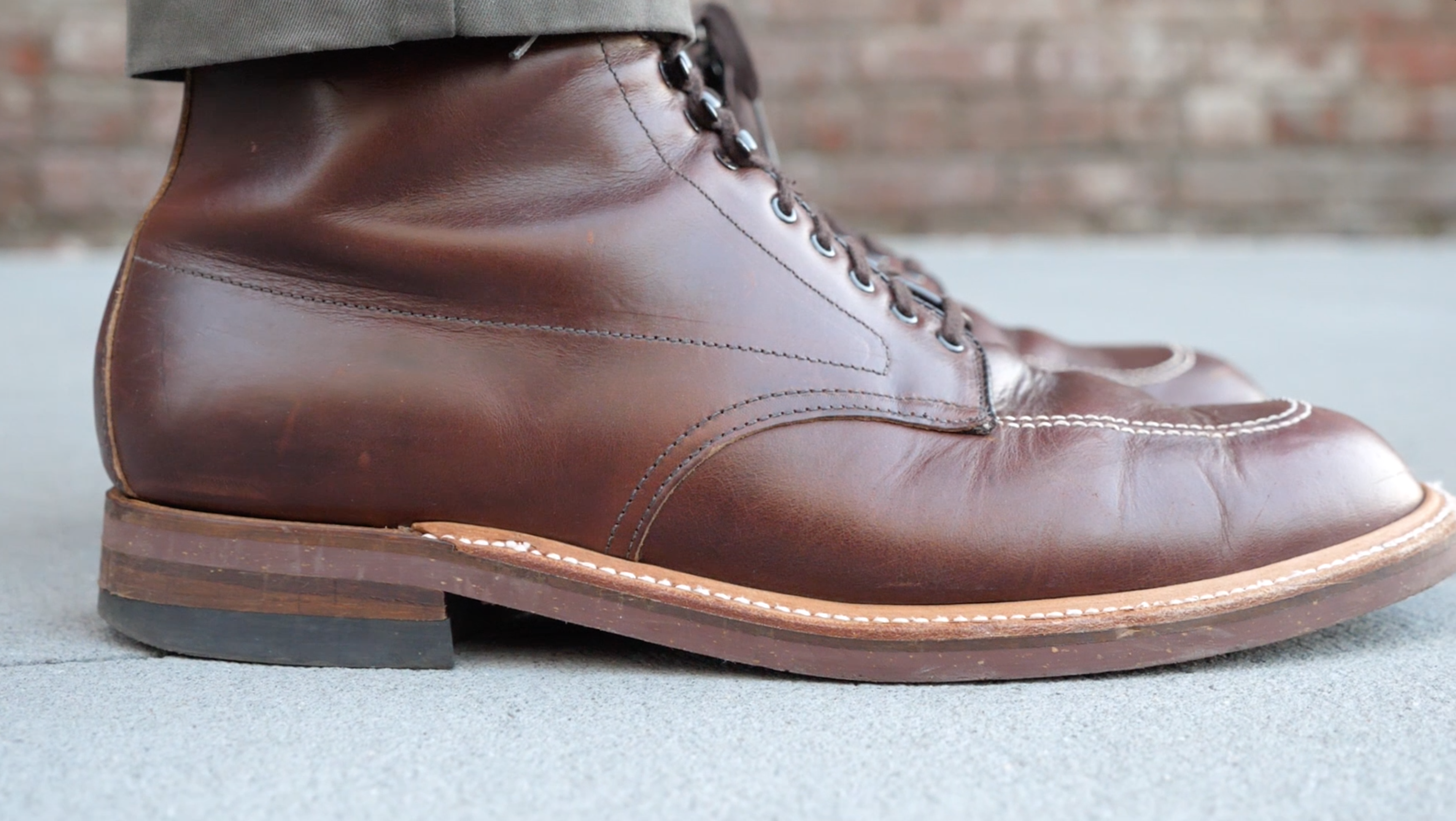 Alden Indy 403 boot side