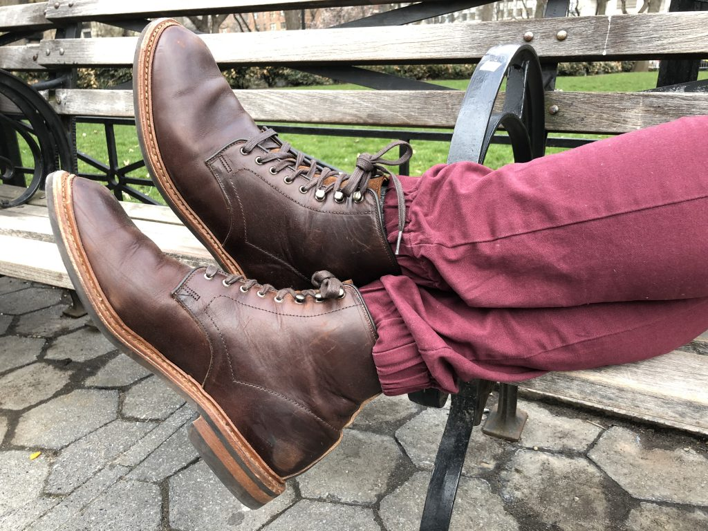 Allen Edmonds Higgins Mill bench