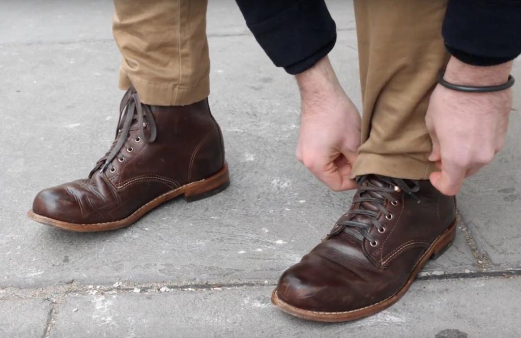 Wolverine 1000 Mile boots khakis