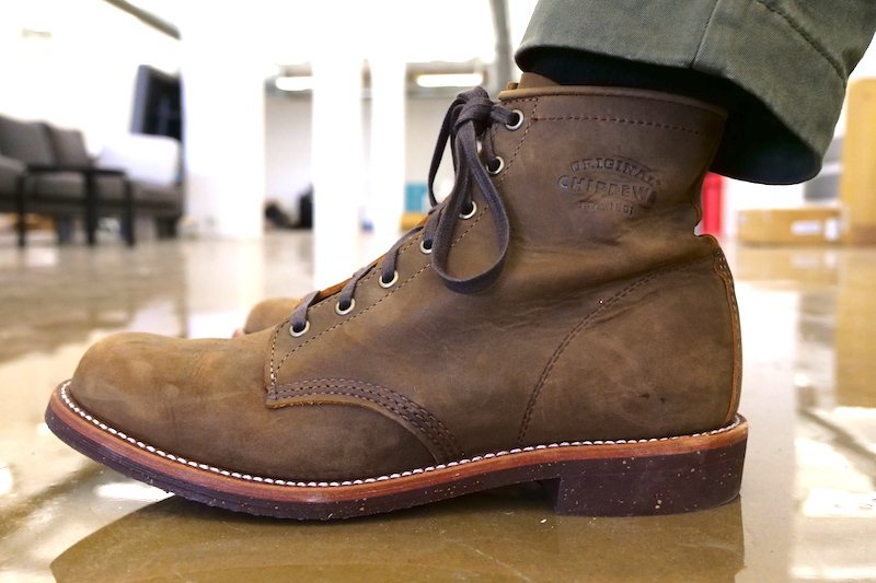 Chippewa Service boot side view
