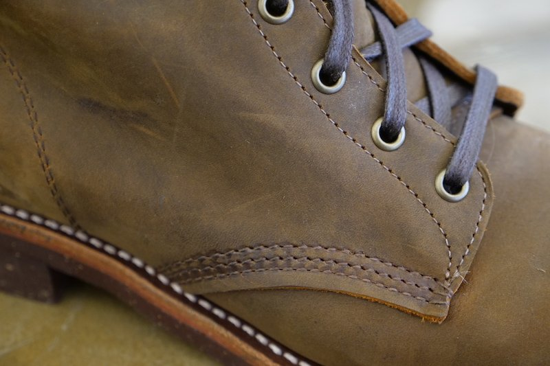 Chippewa Service boot stitching