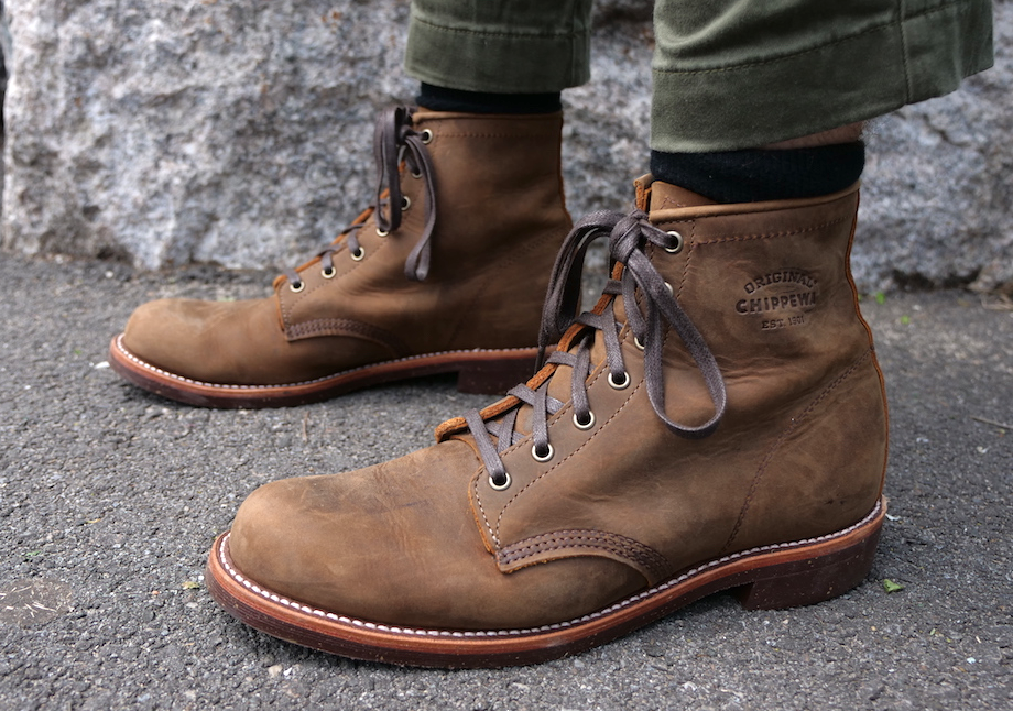 Chippewa Service boots pavement