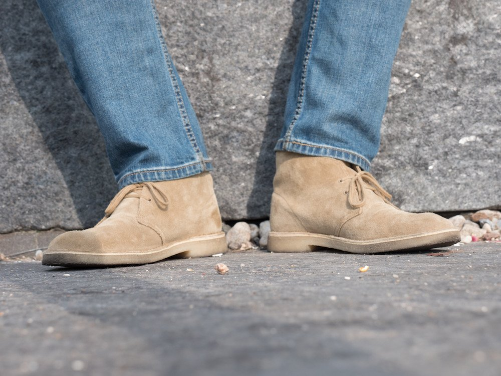 Clarks desert boot penguin feet
