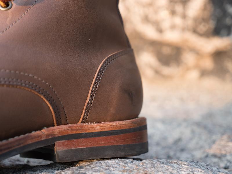 Oak Street boots heel