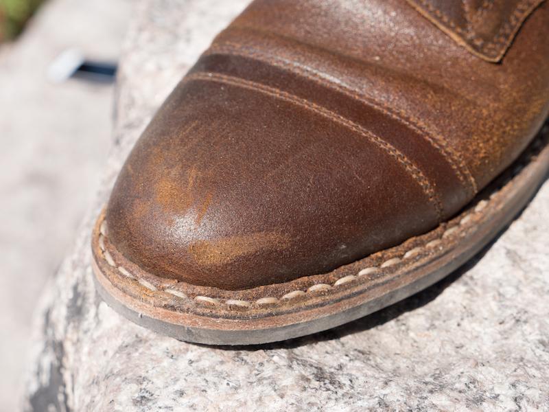 Whites Service Boot toe cap