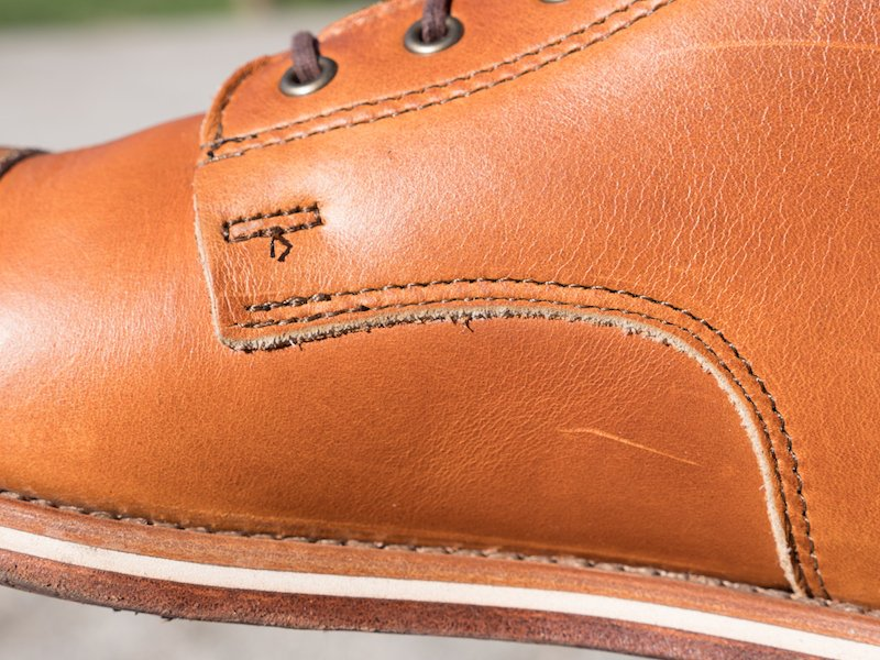 helm boot leather