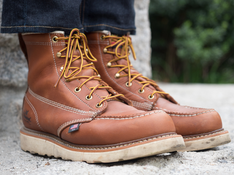 Thorogood moc toe diagonal