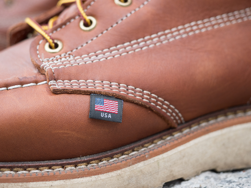 Thorogood moc toe flag