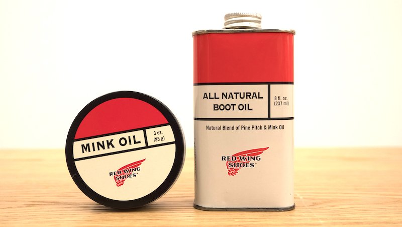 red wing boot oil vs mink oil