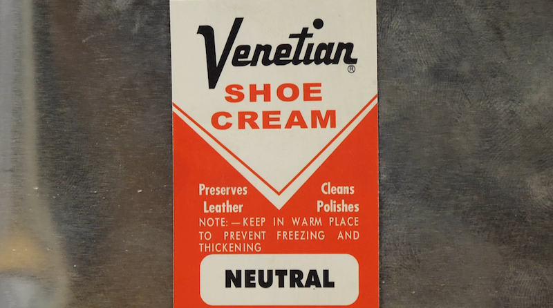Venetian Shoe Cream Label