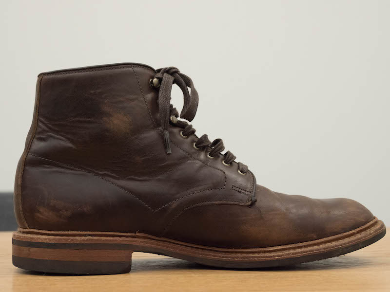 allen edmonds higgins mill beat up