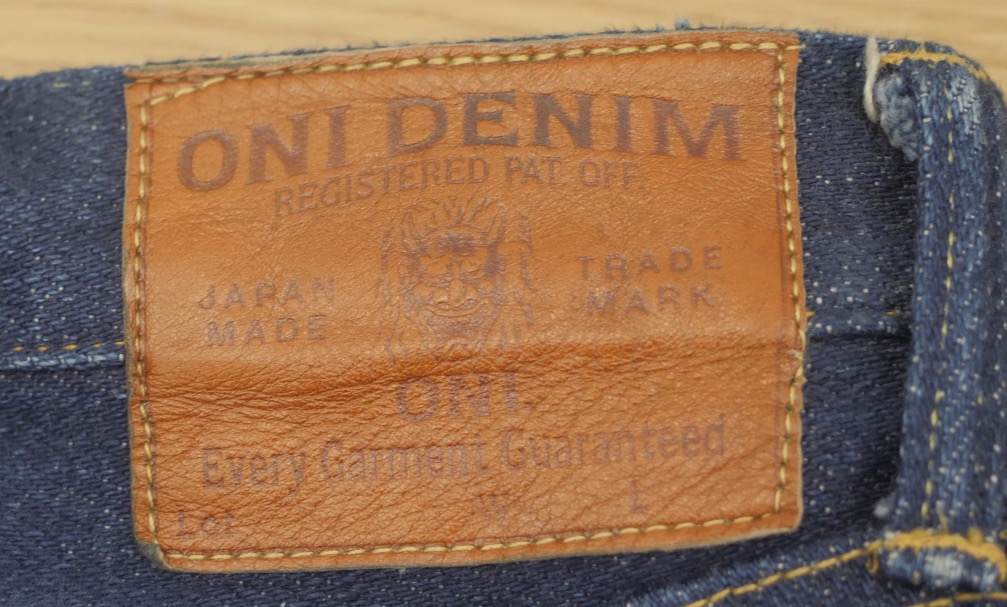 oni denim waistpatch