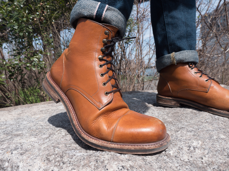 beckett simon dowler cap toe boot bent