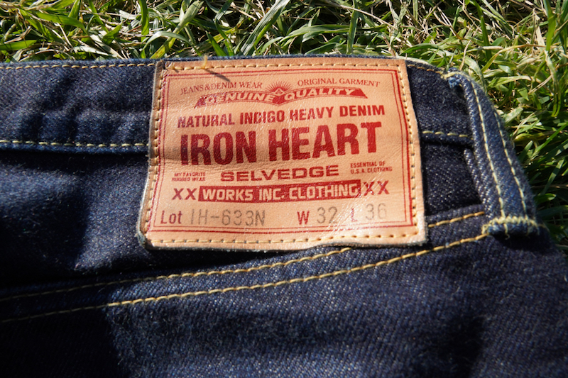 iron heart 633n jeans label