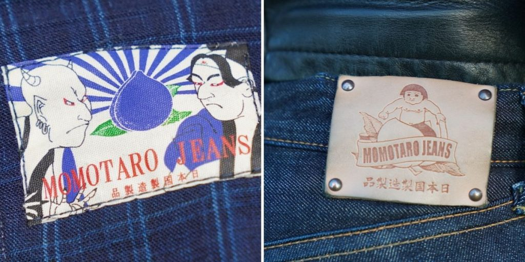 Momotaro peache motifs on jeans