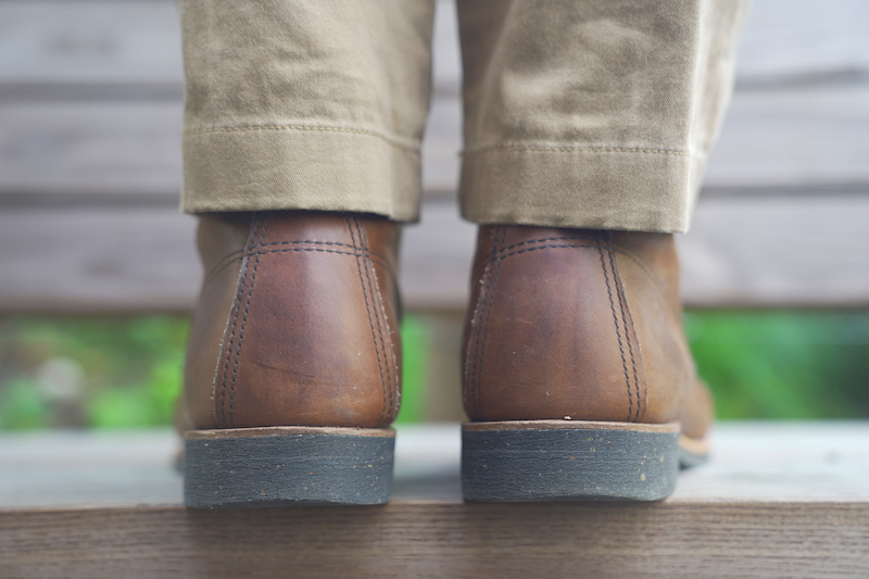 Red wing merchant boot rear