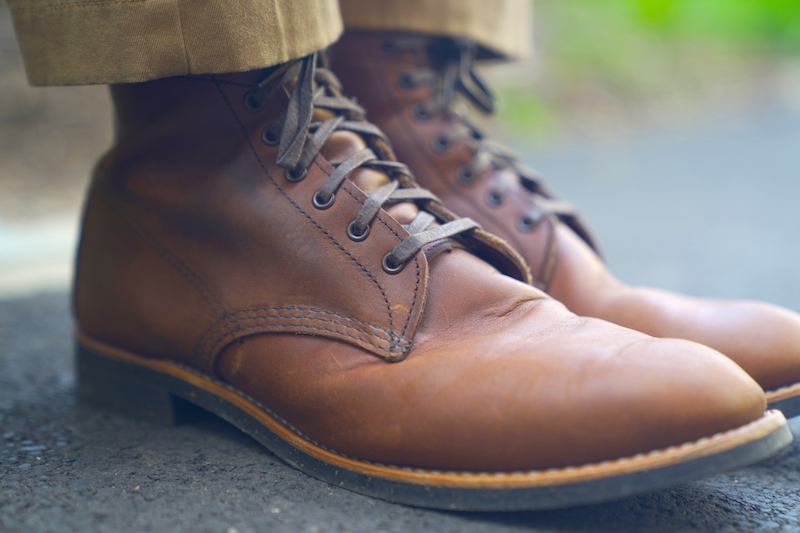 Red wing merchant boot street