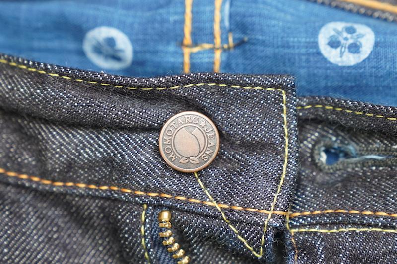 momotaro jeans button