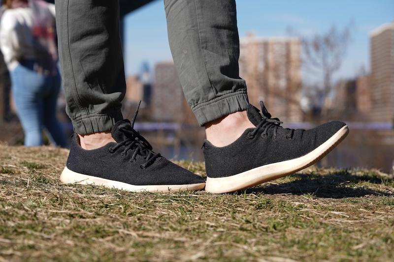 allbirds wool runner walking