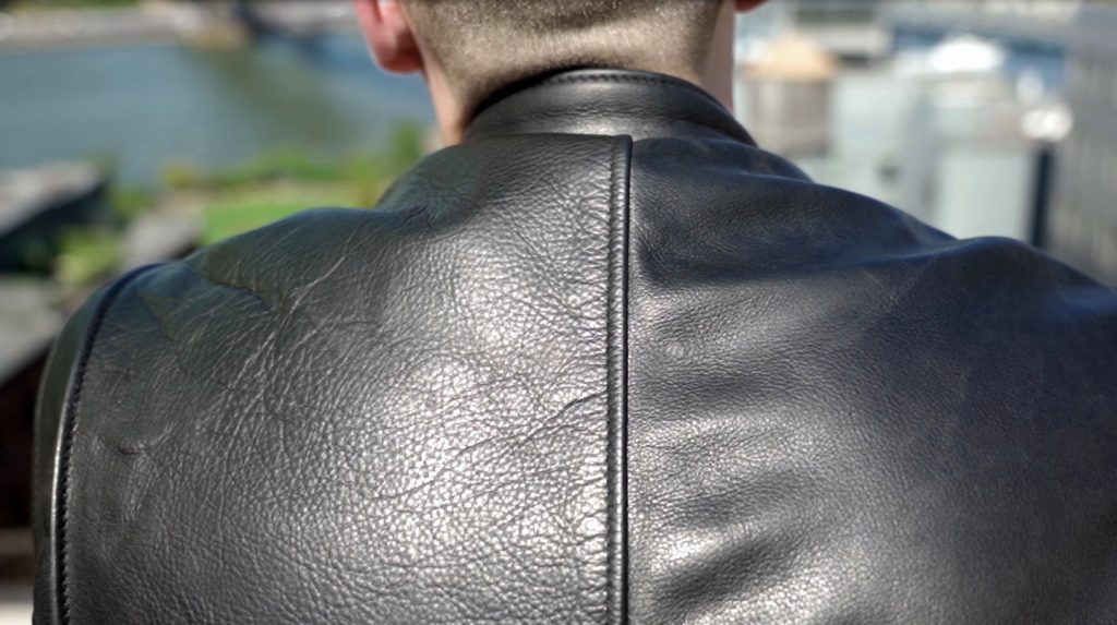 schott cafe racer leather jacket grain