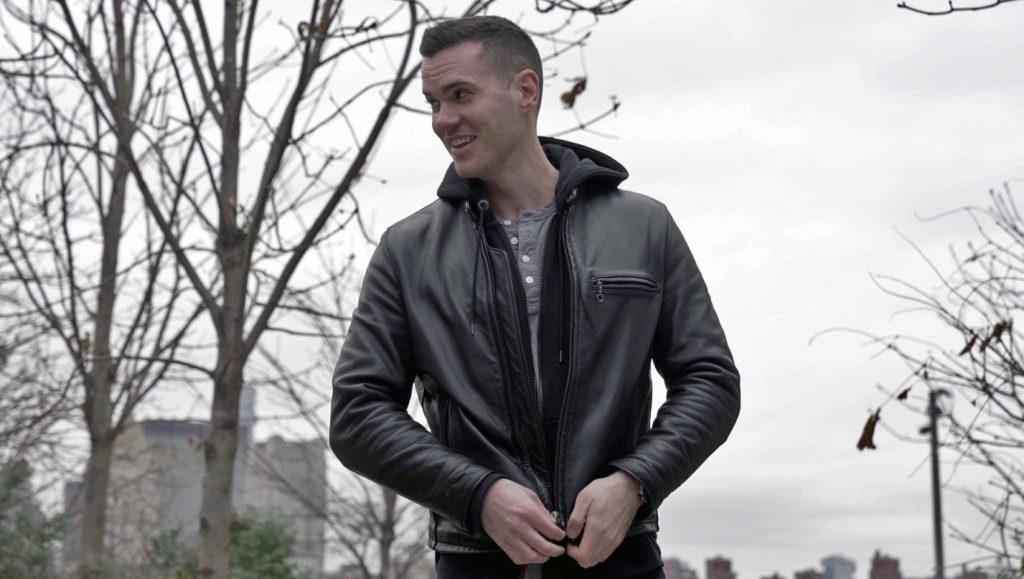 schott cafe racer leather jacket hoodie 2