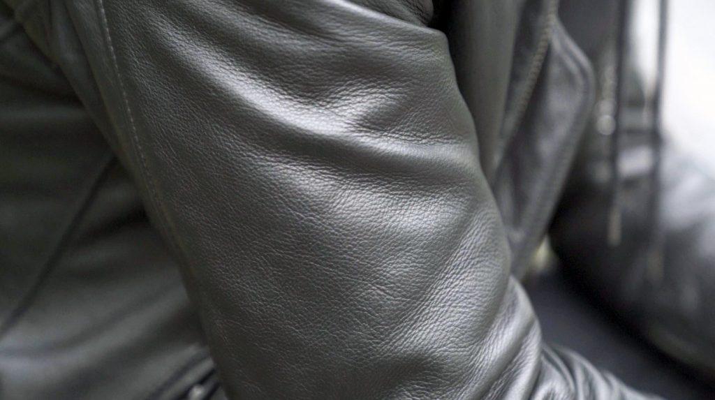 schott cafe racer leather jacket pebble grain