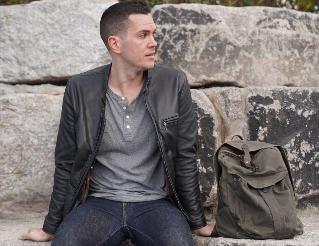 schott jacket with bag