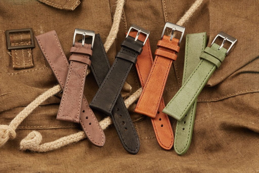 calfskin leather watch straps
