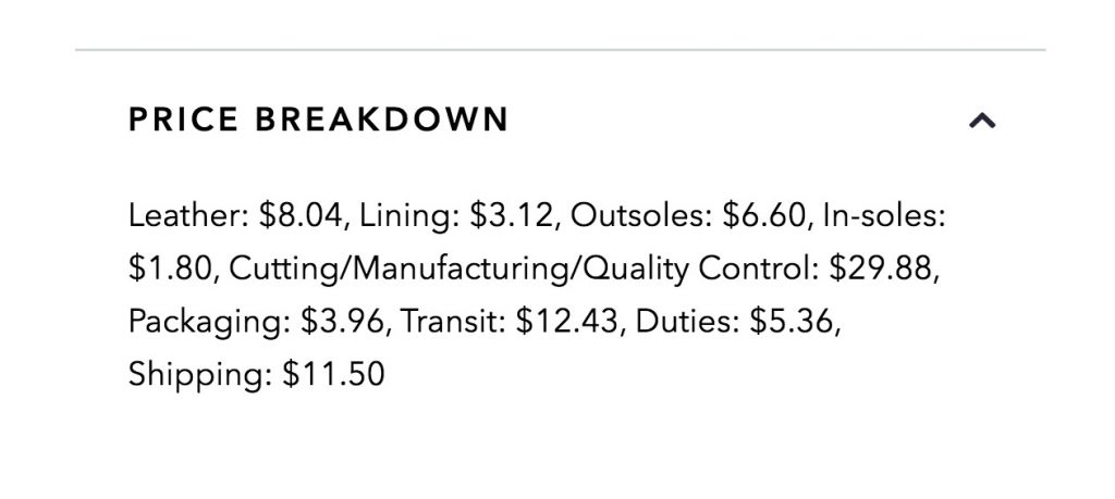 oliver cabell price breakdown
