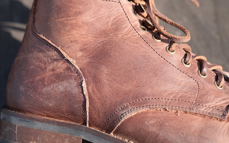 rhodes dean boot leather trim