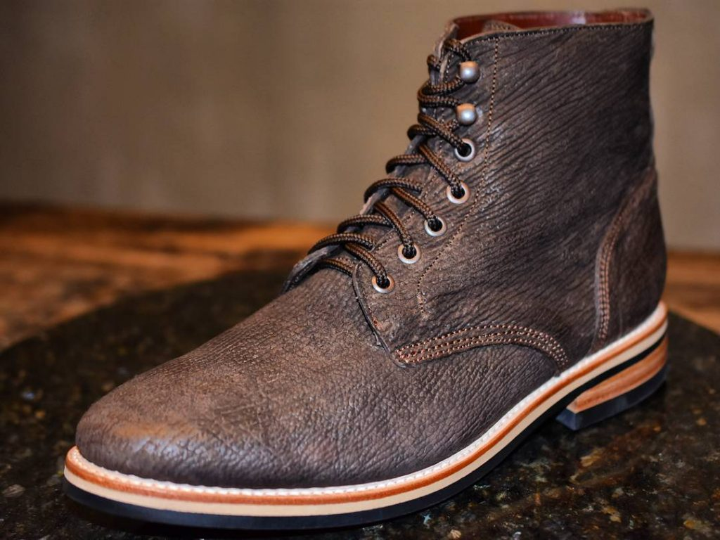 shark leather service boot