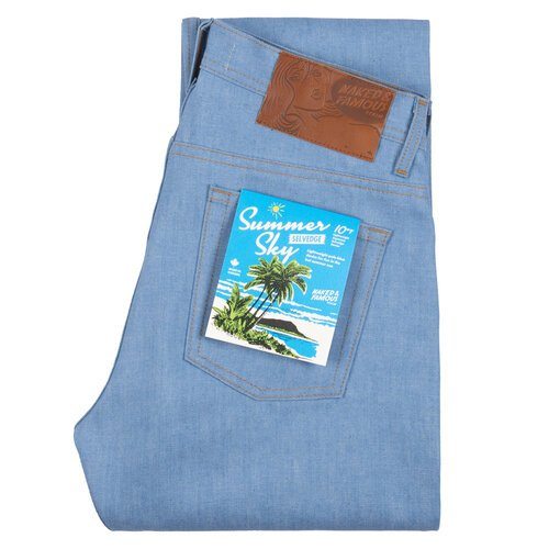 naked and famous summer sky selvedge