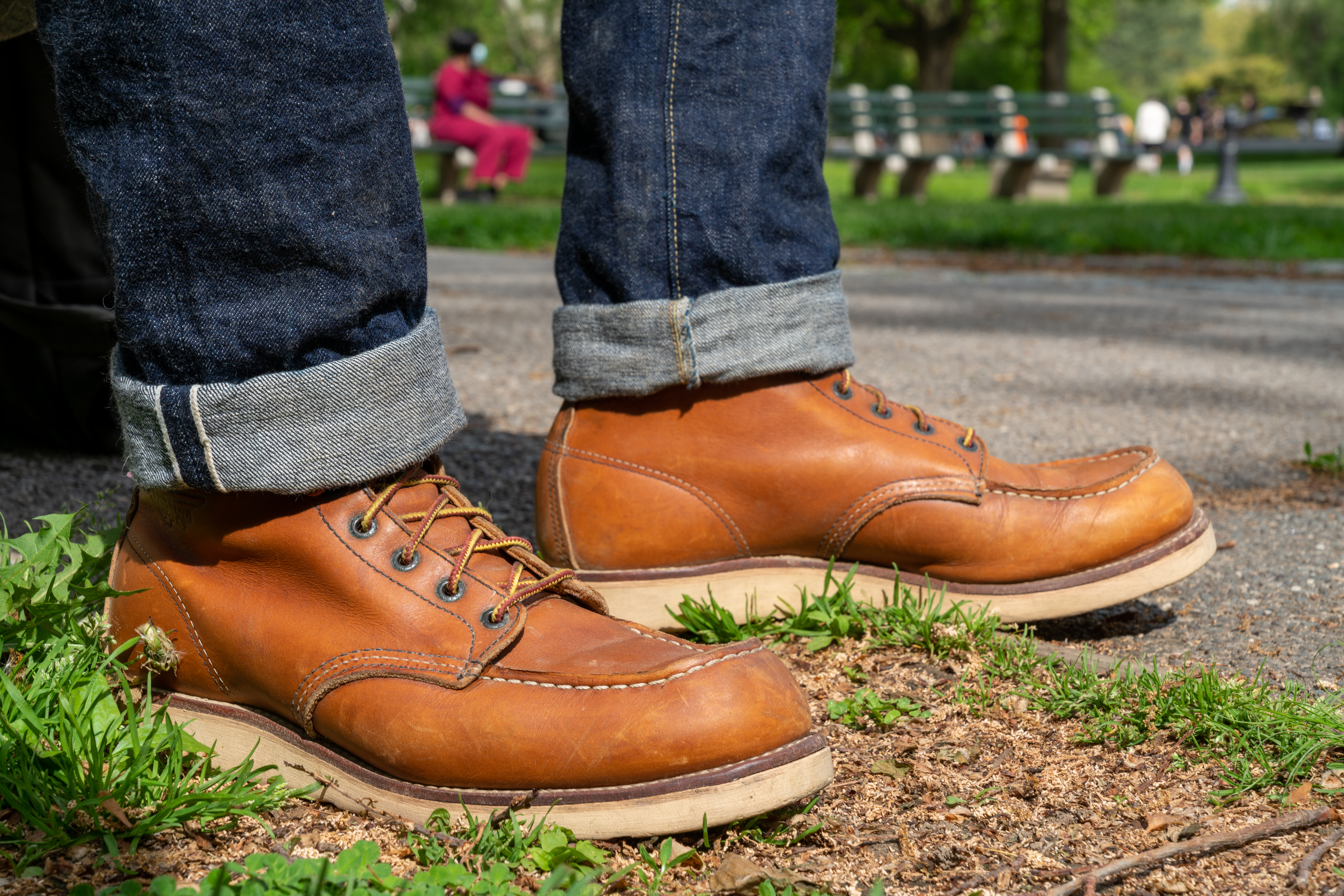 red wing 875 moc toe on feet