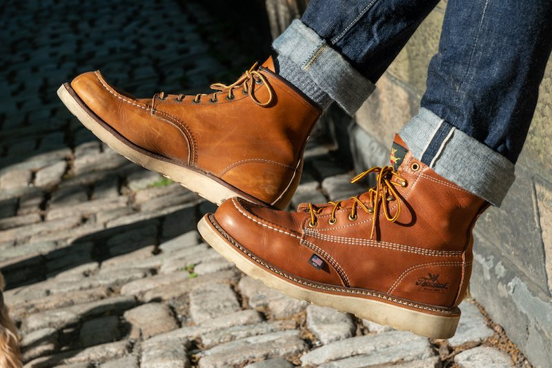 red wing vs thorogood moc toe profile