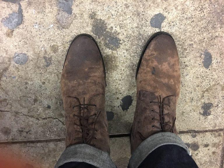 rider boots wet