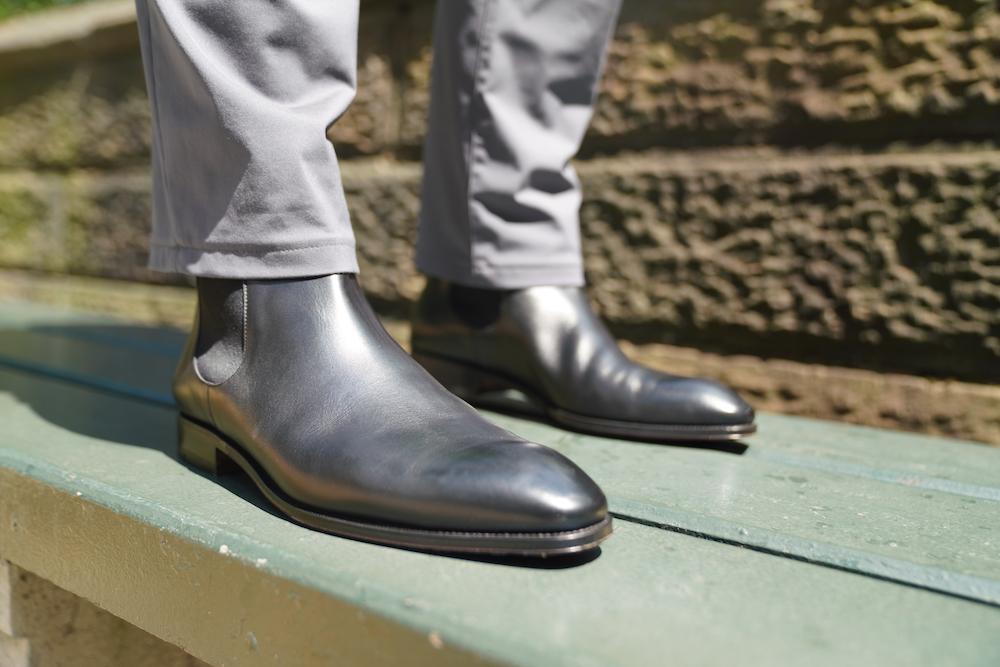 carmina chelsea on feet sunlight