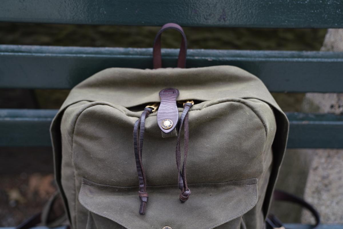 filson journeyman backpack pull tabs