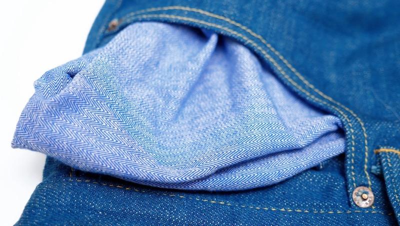 tanuki jeans pocket lining