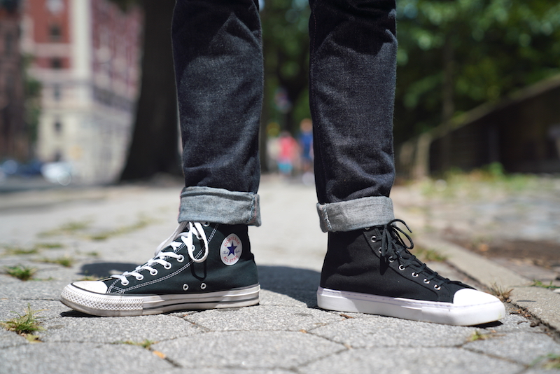 converse vs nothing new under jeans