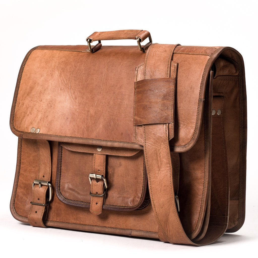 far horizon traders camel leather bag