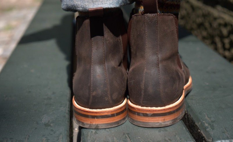 grant stone chelsea boot rear view