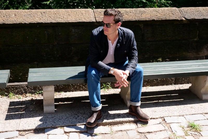 grant stone chelsea boot sitting
