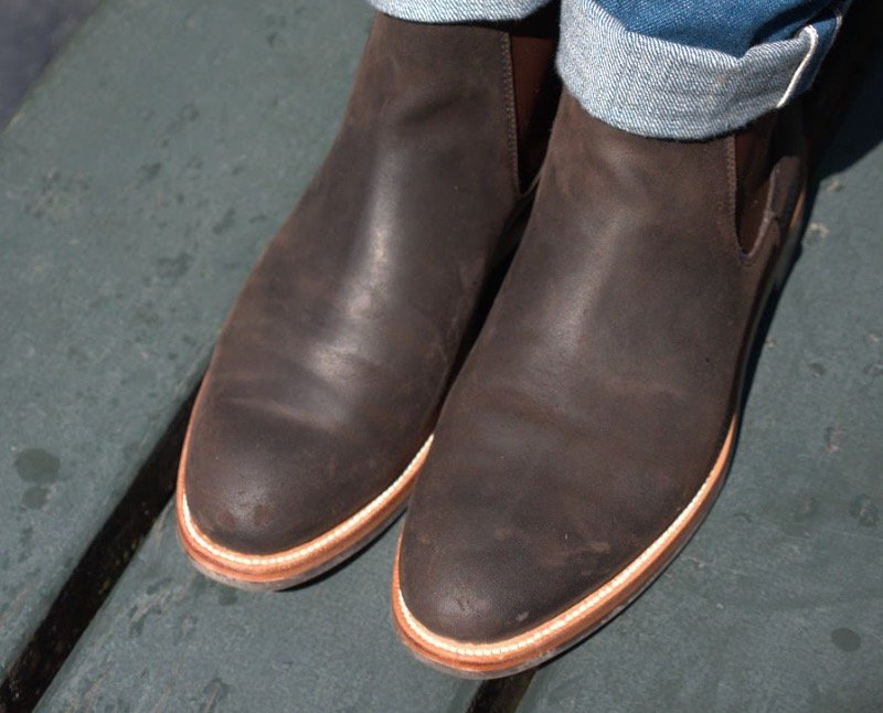 grant stone chelsea boot top view