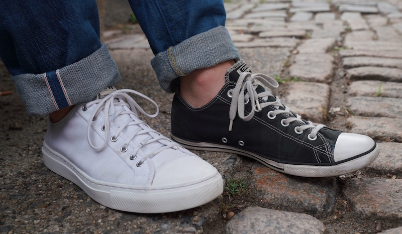 nothing new vs converse low tops close
