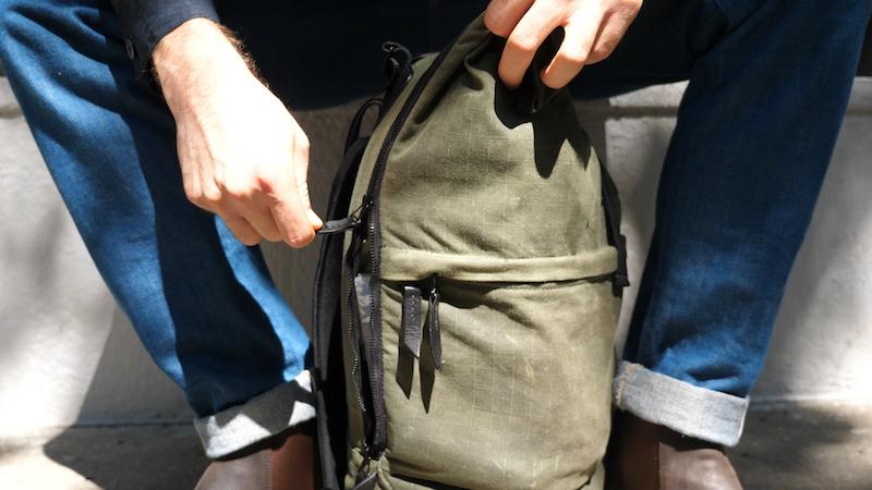 tanner goods koru rucksack side zipper