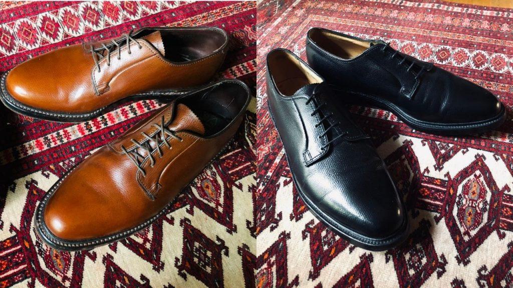 Florsheim Imperial 93603 Tan Plaintoe and 92611 Black Plaintoe