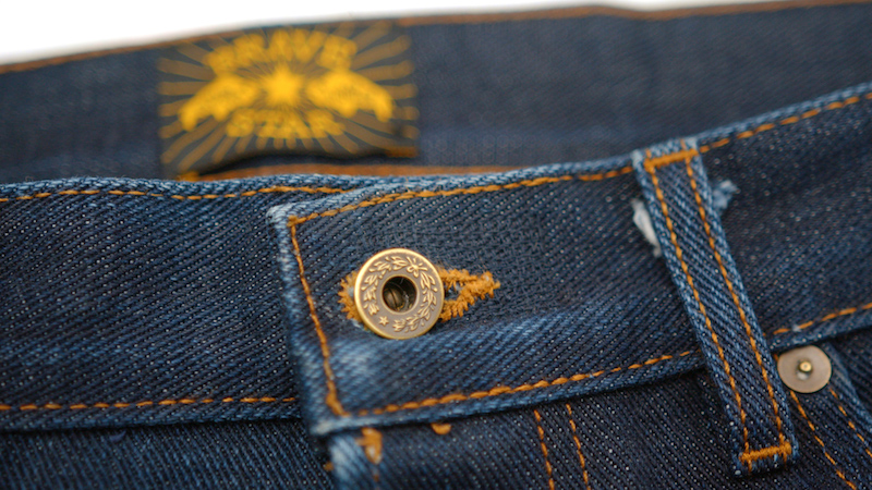 Brave Star selvedge jeans button