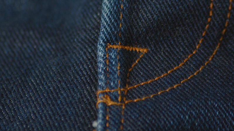 Brave Star selvedge jeans fly