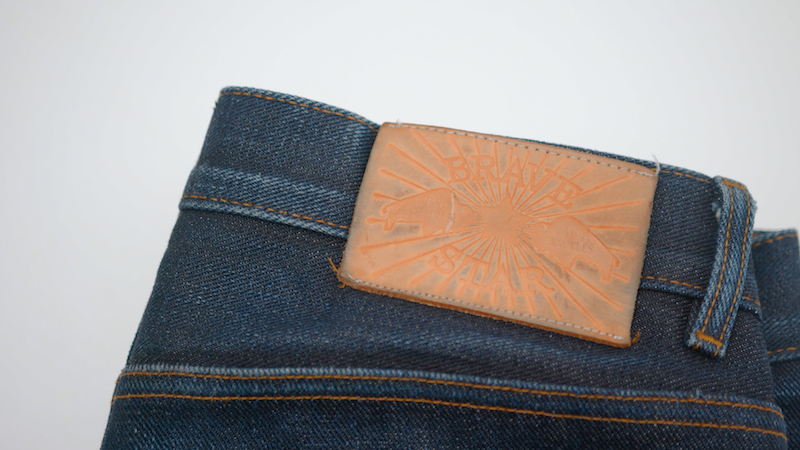 Brave Star selvedge jeans waistpatch