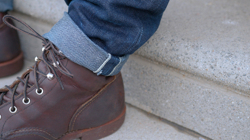 Brave Star selvedge jeans with boots